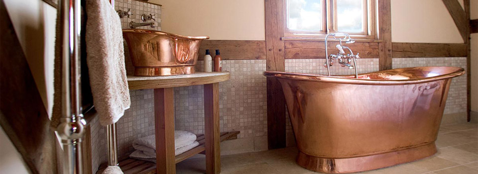 Bathtub dan Wastafel Tembaga