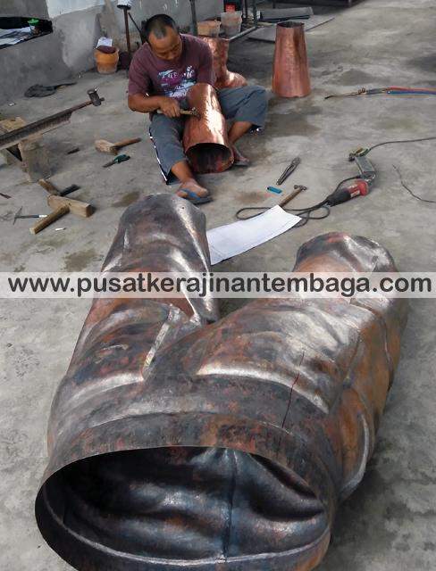 pembuatan patung tembaga