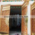 Kerajinan, pintu masjid, model nabawi, dari kuningan