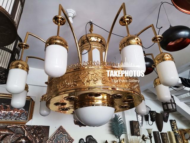 Lampu MAsjid Model nabawi kuningan