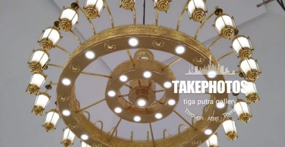 Replika Lampu Masjid Nabawi Dari Tembaga dan Kuningan